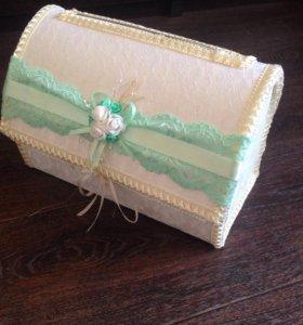Свадебный ящик для конвертов
