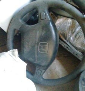 Руль с подушкой на англоцивик mb
