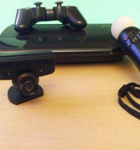 PlayStation3 Super Slim + камера с контроллером