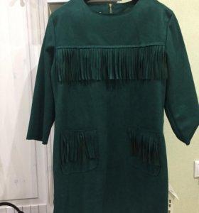 Платье 👗 замшевое новое