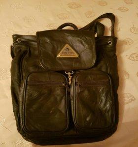 Рюкзак школьный кожаный
