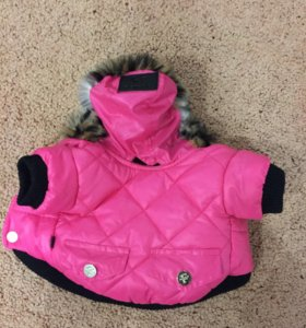 Куртка и ботинки с натуральным мехом для собак