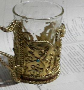 Подстаканик,стакан в комплекте