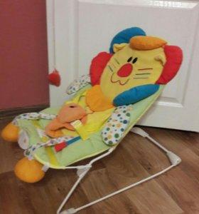 Детский шезлонг, кресло-качалка.