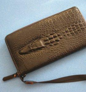Кожаный кошелёк новый