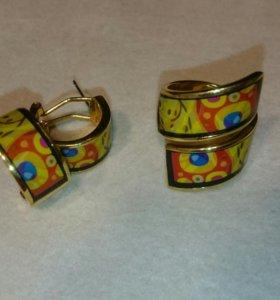 Набор бижутерии серьги и кольцо. Украшение.
