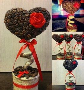 Подароки из кофейных зерен