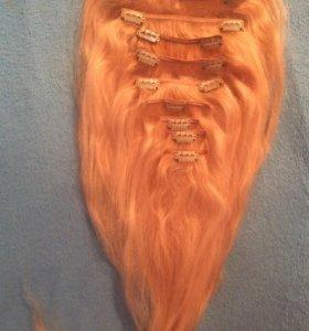🔴Натуральные волосы на заколках