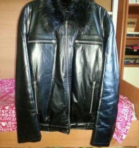 Куртка зимняя кожанная