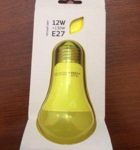 Led лампа 12Вт-замена 130 Вт теплый свет, Geniled