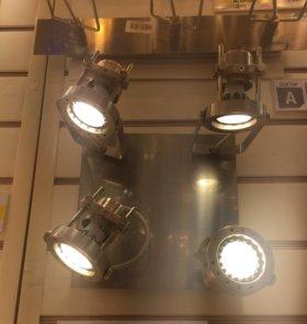 Светильники хром 2 шт