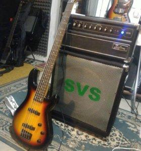 Бас гитара, усилитель, Ampeg, Kustom