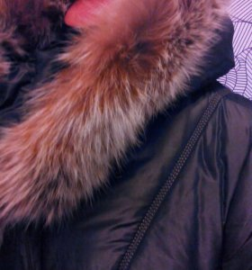 Пальто зимнее на синтепоне.Нат.мех.