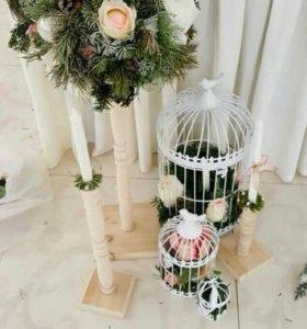 Клеточки декоративные для декора и букета невесты