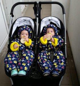 Коляска для двойни 2в1 valko baby spark duo