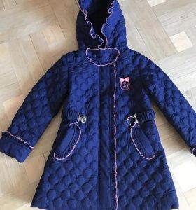 Пальто стёганое на девочку
