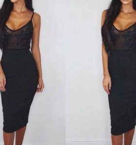 Платье чёрное