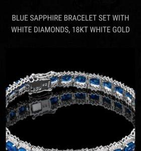 Браслет сапфиры и бриллианты