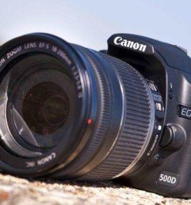 Фотоаппарат Canon EOS 500D EF-S 18-200 IS Kit б/у