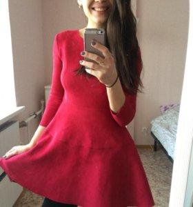 Платье экозамша