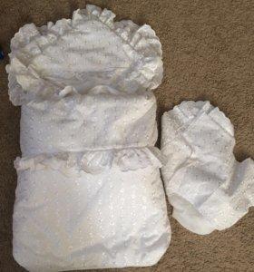 Конверт с одеялом на выписку