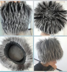 Меховая шапка. Чернобурка.