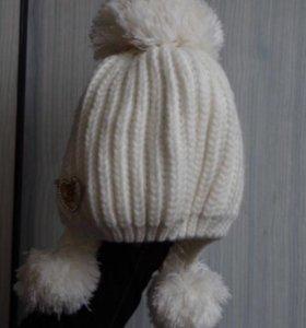Новая тёплая шапка для девочки