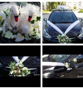 Украшения на свадебный авто