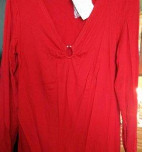 Блуза женская цвет вишня,46 размер для беременных