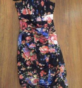 Платье (атласная ткань)