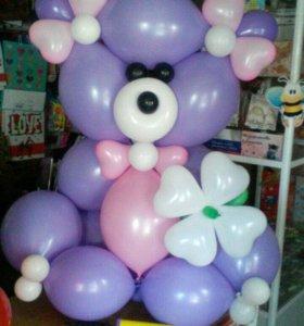 Большие мишки из воздушных шаров!
