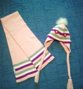 Комплект: шапочка+шарфик Futurino