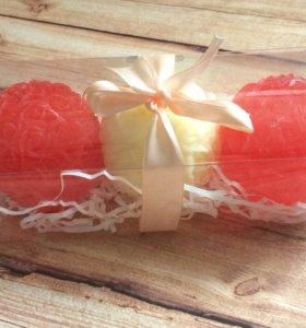 Шары из роз набор- мыло ручной работы