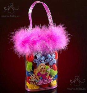 Подарочный набор резинок для волос в сумочке