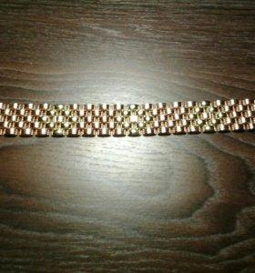 Золотой браслет танкетка