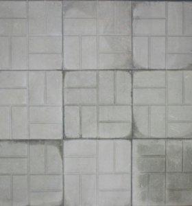Тротуарная плитка Восемь кирпичей 300х300х30 серая