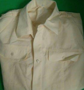 Кремовая рубашка военная