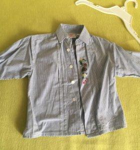 3 детских рубашки в идеальном состоянии 2-4 года