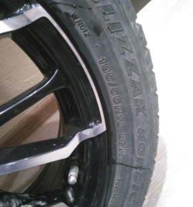 Зимняя резина ( шины зимние колеса литые диски )16