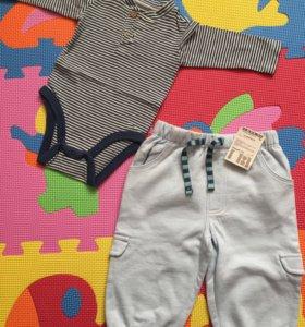 Штанишки mothercare и боди Zara mini