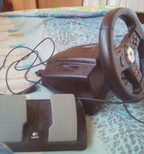 Игровой руль с педалями Logitech®