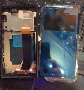 Дисплей и заднее стекло на Sony z2