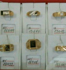 Мужские перстни и печатки.Золото585. Цена на фото