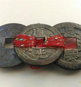 Три древние монеты