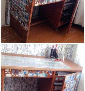 Письменный стол. Дерево. СССР. 60-е годы
