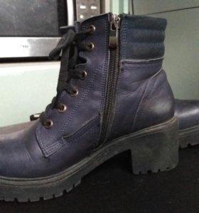 Ботинки зимние нат кожа мех