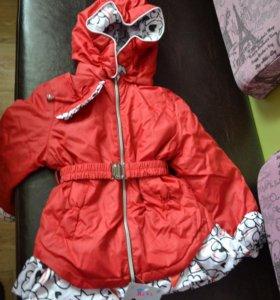 Куртка.Пальто весна/осень  р.92-98 новое