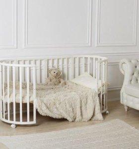 Овальная кроватка, аналог Stokke с матрасами
