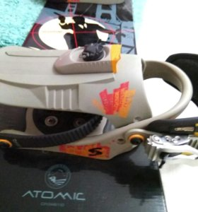 Сноуборд Atomic + крепления Salomon