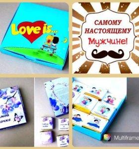 Коробочка конфет Love is